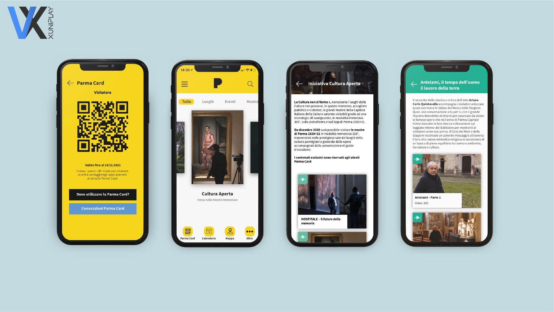 Visitor XPerience - Parma 2020+21 applicazione e sito web fabbricadigitale